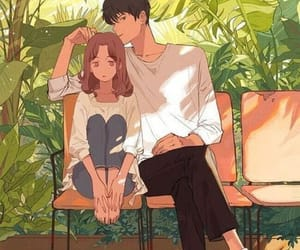 anime, art, and couple image