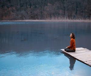 deck, lake, and waiting image
