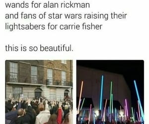 harry potter, alan rickman, and carrie fisher image