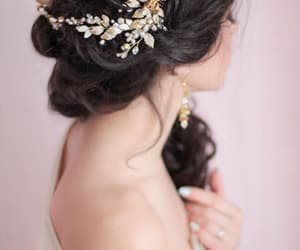 etsy, weddinghalo, and bridal hair piece image