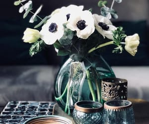 coffee, flowers, and rustic image