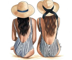 amigas, bathers, and bff image
