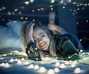 girl, amazing, and lights image