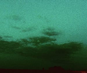 clouds, dark, and green image