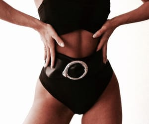 abs, black, and chic image