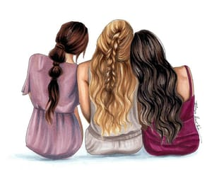 amigas, blonde, and braid image