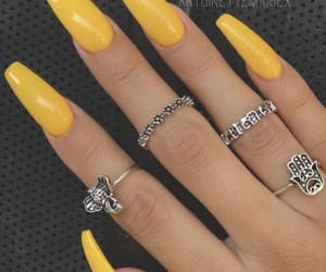 jewelry, nails, and yellow image