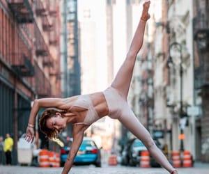 city, pose, and yoga image