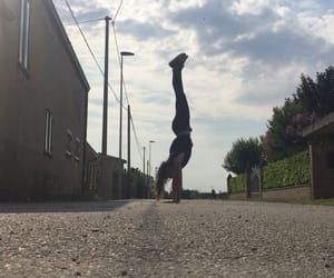 dancer, girl, and handstand image