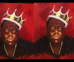 acrylic, notorious big, and painting image