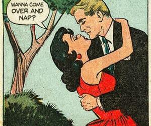 comic, couple, and art image