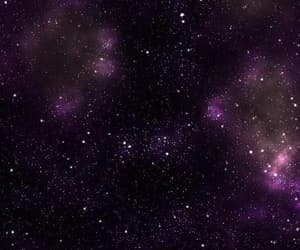 background, purple, and stars image