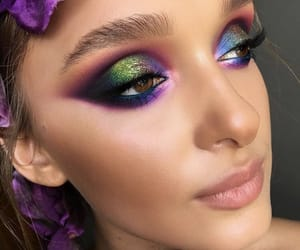 beauty, makeup, and colorful image