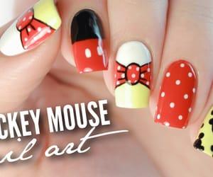 disney, nails, and mickey image