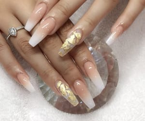 gold, nails, and peach image