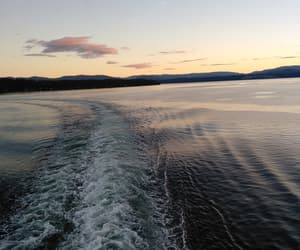 ferry, real, and sunset image