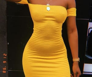 dainty, yellow, and yellow dress image