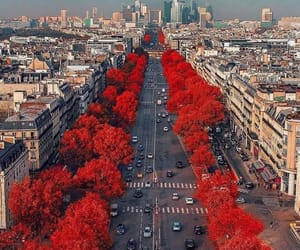 city, red, and paris image
