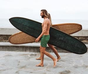 boys, summer, and surf image
