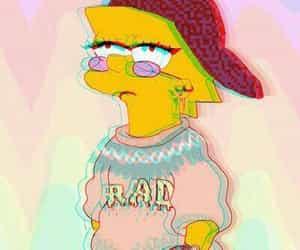 rad, lisa, and simpsons image