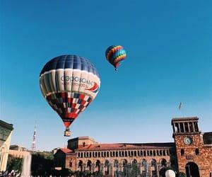 air balloon, armenia, and festival image