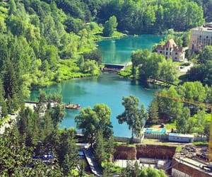 green, armenia, and lake image