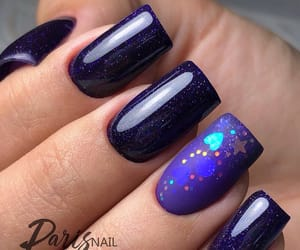 beautiful, glitter nails, and blue image