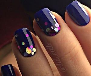 beautiful, glitter, and nails image