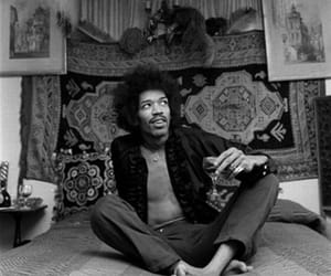 Jimi Hendrix, black and white, and music image