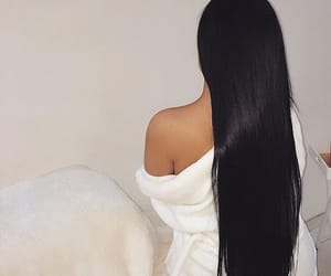 beautiful hair, brunette, and long hair image