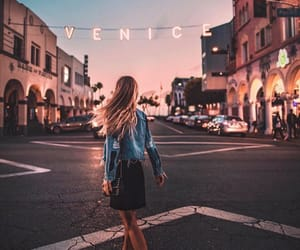 california, girl, and sunset image