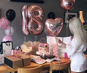 birthday, 18, and pink image