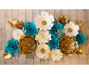 paper roses, flores de papel, and paper flower wall image