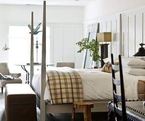 bedroom, rustic, and decor image