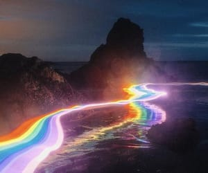 light and rainbow image