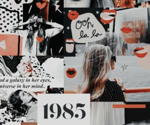red, art, and Collage image