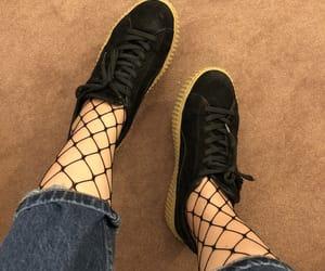 black, black shoes, and grunge image