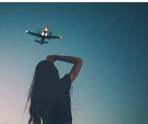 girl, travel, and sky image