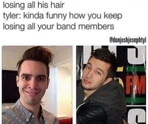 panic! at the disco, twenty one pilots, and brendon urie image