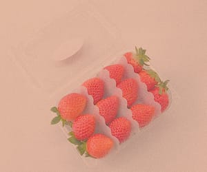 aesthetic, red, and strawberry image