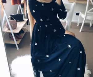 dress, black, and robe image