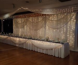 reception, white, and wedding image