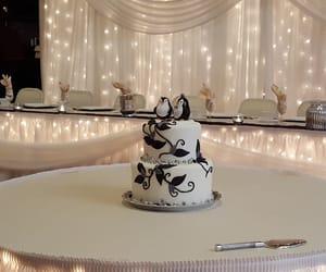 cake, wedding cake, and penguins image