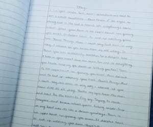 blue, handwritten, and Lyrics image