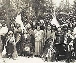 antique photo, black and white, and indians image