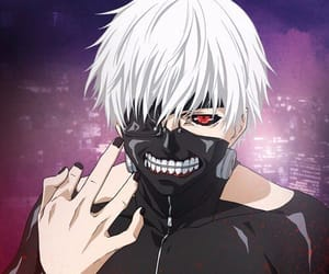 anime, red eye, and tokyo image