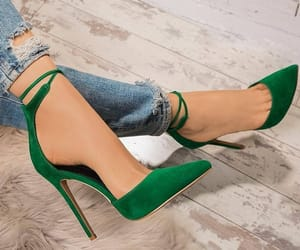 chaussure, shoes, and green image