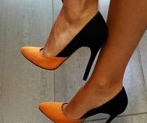 black, chaussure, and orange image
