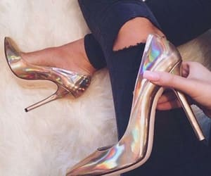 golden, heels, and talon image