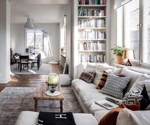 apartment, architecture, and books image
